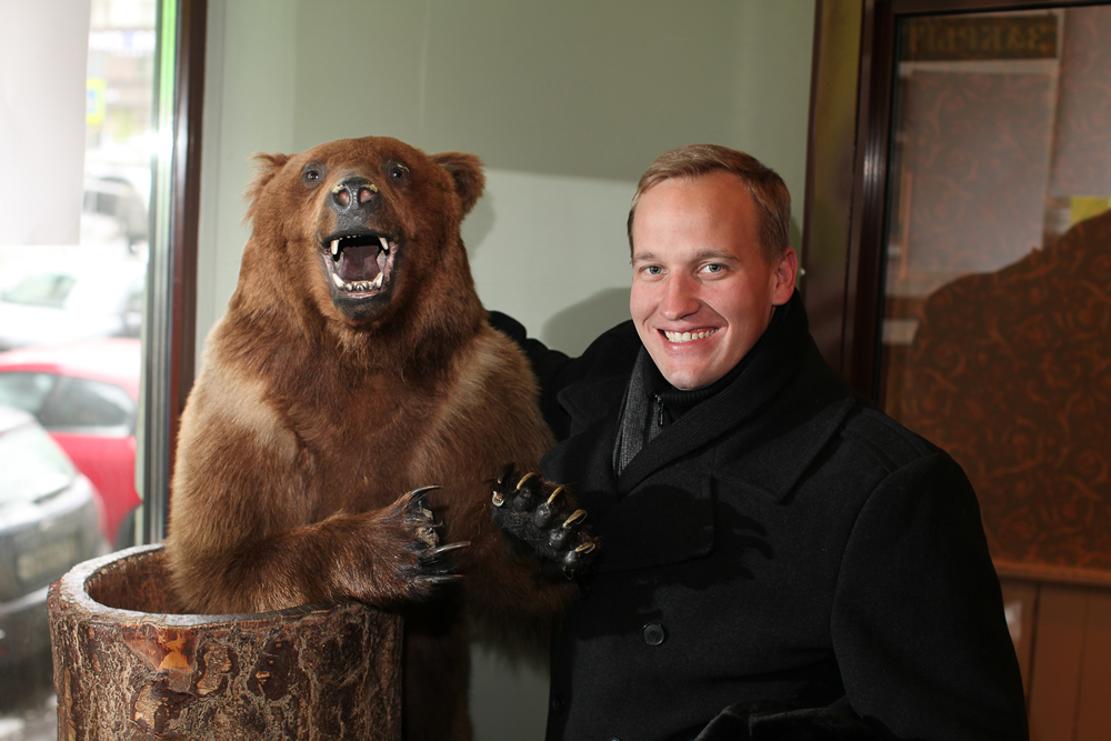 With Russian bear